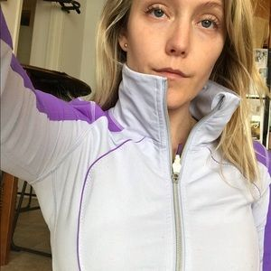 Lavender Lululemon zip up jacket